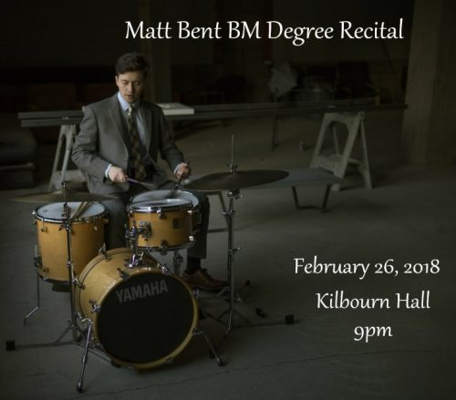 Recital Poster - Musician seated at drumset