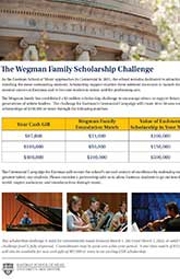 The Wegman Family Scholarship Challenge thumbnail
