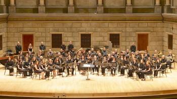 Music Educators Wind Ensemble on stage in Kodak Hall