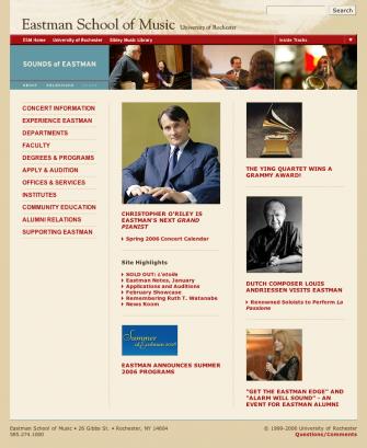 ESM Homepage 2006