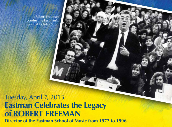 Robert Freeman conducting Eastman's annual Holiday Sing