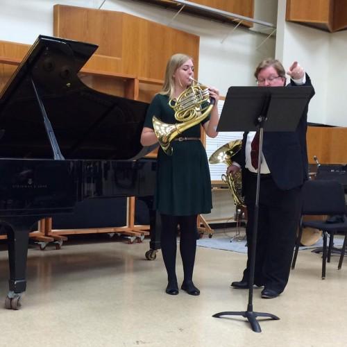 Caroline Baker and Professor VerMeulen