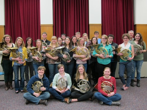 Eastman School of Music 2014-2015 Horn Studio photo
