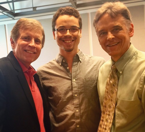 Left to right: Frank Ticheli, Tyler Taylor, Dr. Frederick Speck