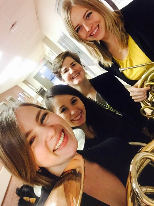 Rebekah, Jessica, Nikki, and Caroline, Winners of Quartet Competition
