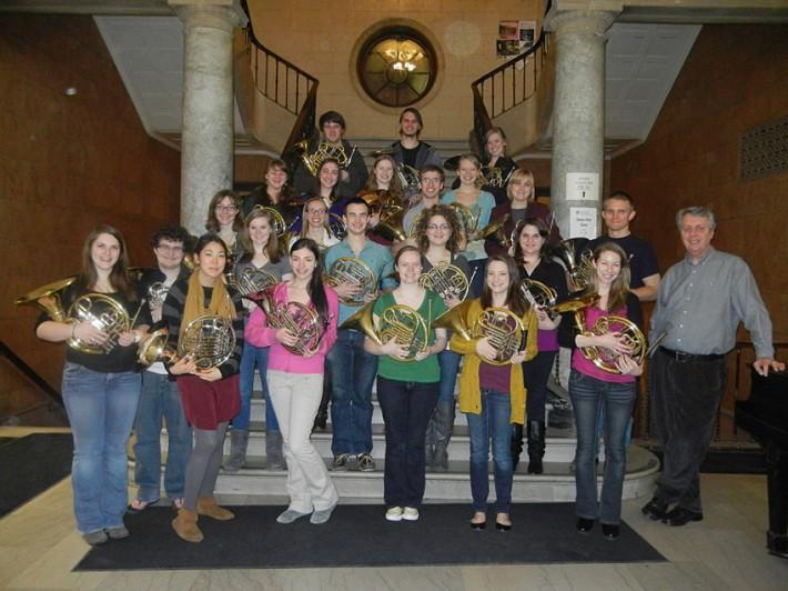 Eastman School of Music 2012-2013 Horn Studio photo