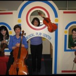 LSO Ensemble at the Shriners Burn Hospital. Lisa Wong is in the center.