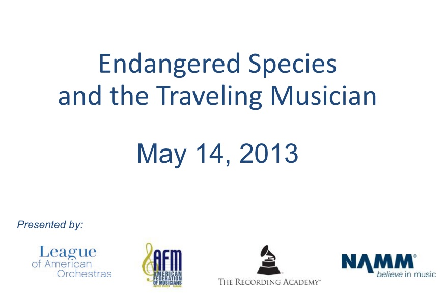 Endangered Species and the Traveling Musician