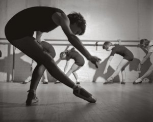 Ballet class for young dancers