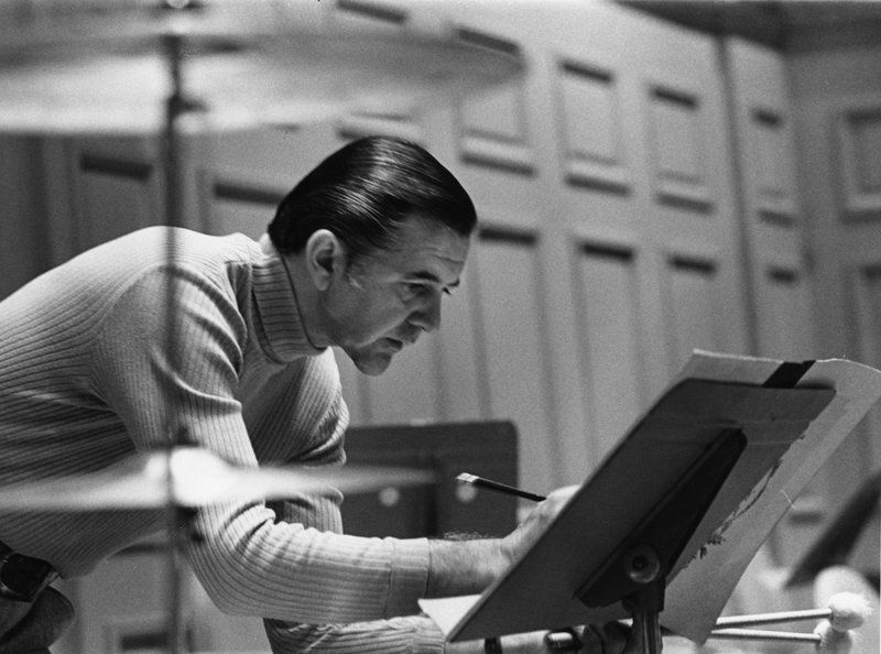 Circa 1974: a photo of Vic Firth, the former principal timpanist of the Boston Symphony Orchestra