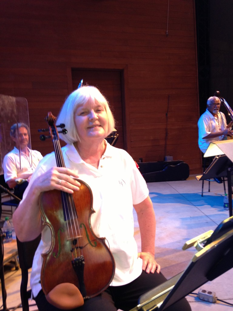 Ann Drinan on stage at the Hartford Symphony's Talcott Mountain Music Festival.