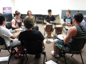 Drumming with Court Youth