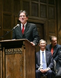Douglas Lowry at Eastman Convocation in 2007