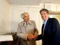 Douglas Lowry with jazz legend Dave Brubeck