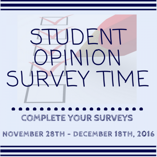 student-opinion-survey-time-fall-2016
