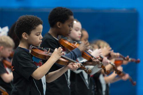 Kids on violins