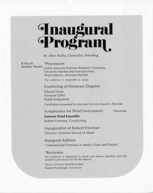 1972 September Inauguration program page 8