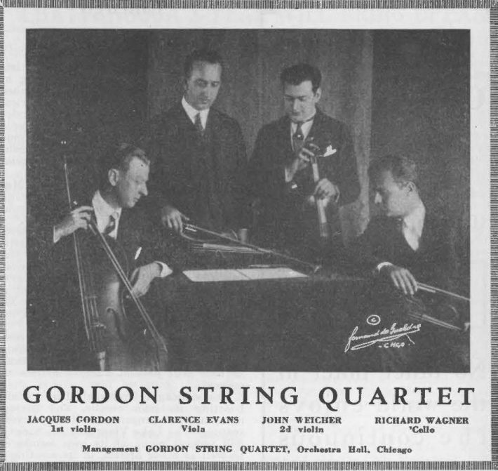 Photograph of the Quartet published in Musical America in 1926.
