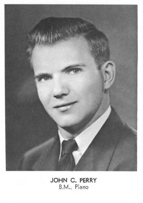 1956 SCORE yearbook photo of John C. Perry
