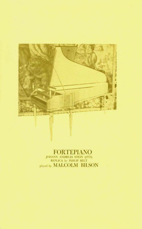 Malcom Bilson playing fortepiano program page 1