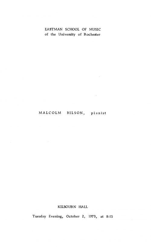 Malcom Bilson playing fortepiano program page 2