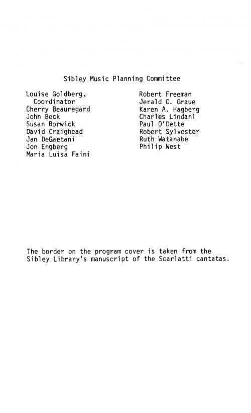 Eighteenth Century Italy Concert program Page 2
