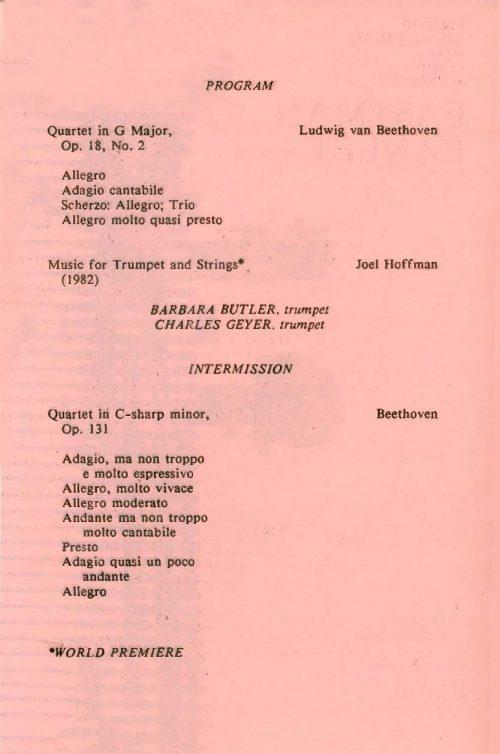 The Cleveland Quartet page 2