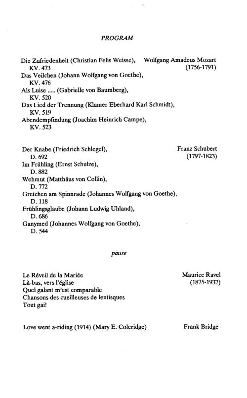 Arleen Auger, soprano with Richard Syracuse, pianist page 2