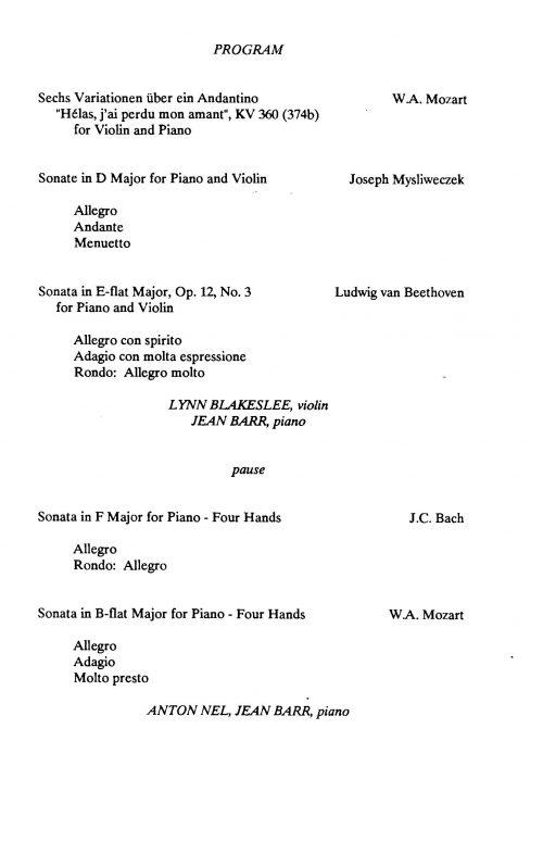 Mozart Hauskonzerte Series Page 2