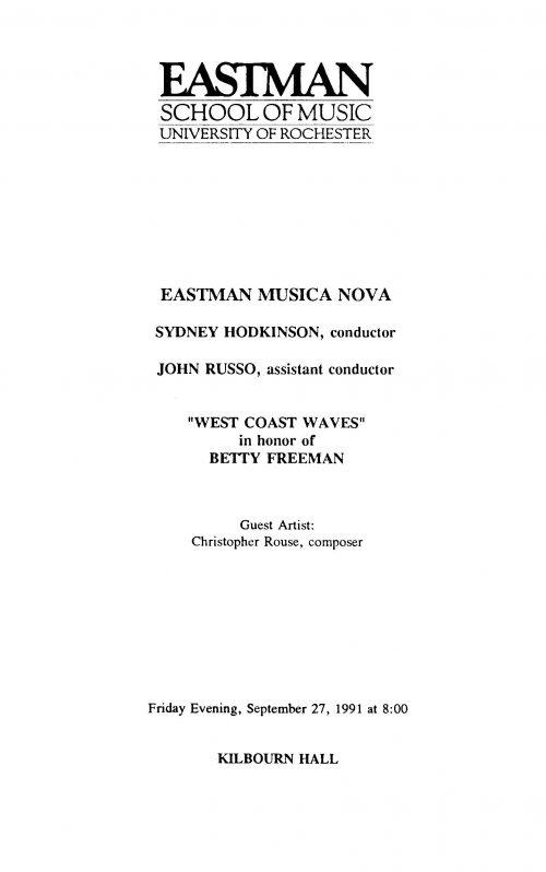 Musica Nova West Coast Waves Page 1