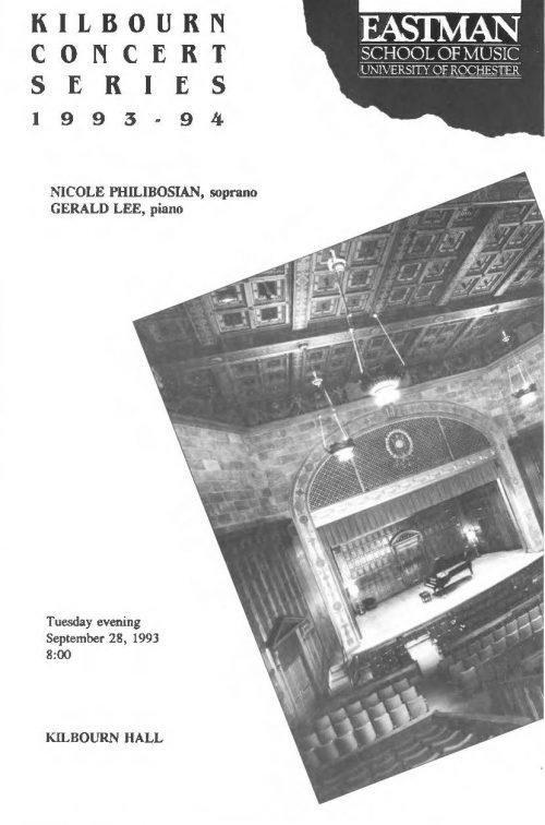 Nicole Philibosian, Soprano, and Gerald Lee, Piano Page 1