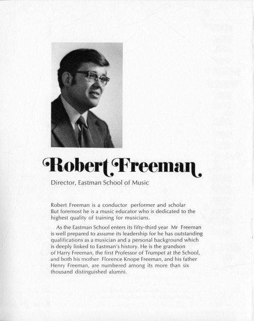 1972 September Inauguration program inside front cover