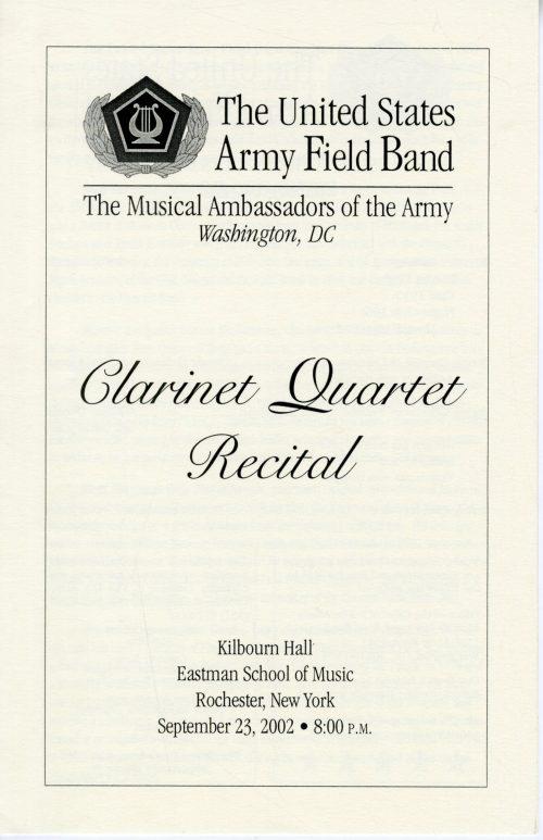 2002 September 23 Clarinet Quartet page 1