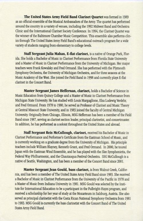 2002 September 23 Clarinet Quartet page 3