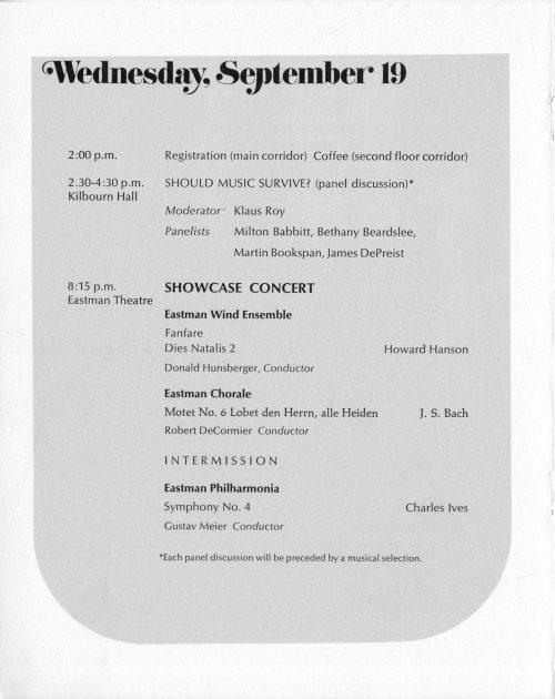 1972 September Inauguration program page 6