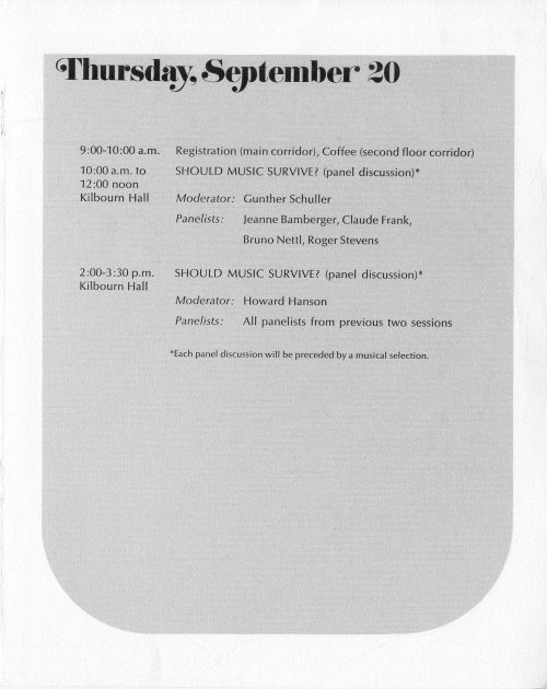 1972 September Inauguration program page 7