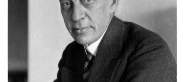 This portrait of Sergei Rachmaninoff was taken by Alexander Leventon (1896-1950), who was both a professional photographer and concertmaster of the Rochester Philharmonic Orchestra (1923-1944). [Leventon Collection, 6/8]
