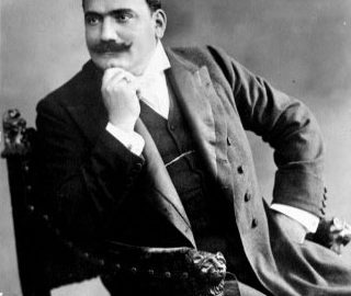 The Postcard Collection contains 200-300 photographs of various 19th-century composers and performers, including this postcard of Enrico Caruso. [Postcard Collection, 1/68]