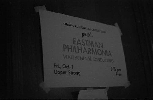 Handbill for the Eastman Philharmonia season opener concert.