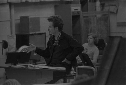 Bill Dobbins coaching Eastman New Jazz Ensemble ENJE players.