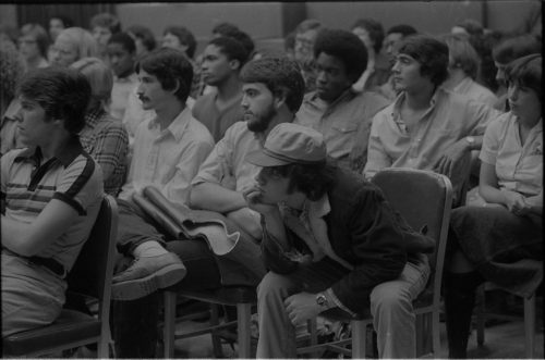 Students in attendance at Ron Carter's master class.