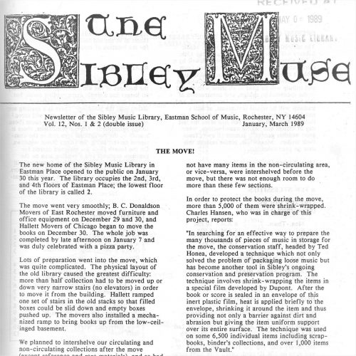 Sibley Muse (March 1989)