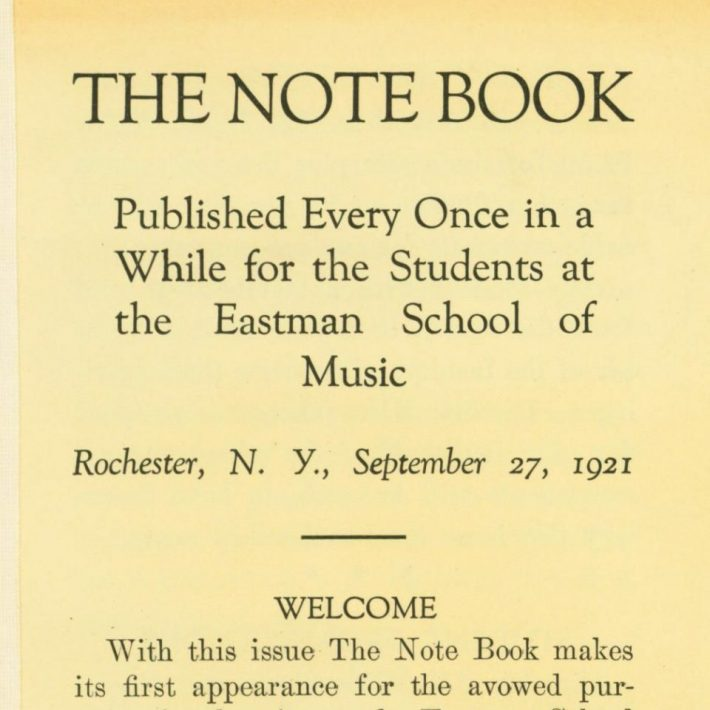 Page 1 of The Note book Sept 27 1921