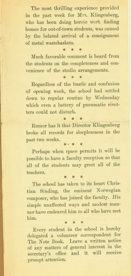 Page 4 of The Note book Sept 27 1921