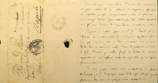 Sibley holds three letters written by Giuseppe Verdi, including this one addressed to Nicola di Somma (letter dated June 15, 1949).