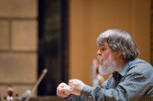 Photos of Eastman: Eastman professor Paul O'Dette, one of the world's great lutenists, is also an accomplished conductor.