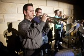 Photos of Eastman: The Eastman Jazz Ensemble rehearsing for the Prism concert The Gift of Music