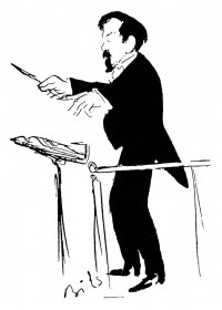 ILLUSTRATION OF DEBUSSY CONDUCTING