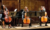Photos of Eastman: Three student cellists perform during A Day of Collaborative Music, January 2011