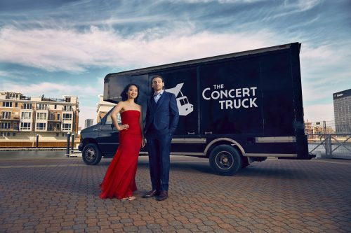 Susan Zhang '13E (MM) with her Concert Truck